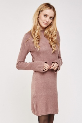 Flared Sleeve Knit Dress