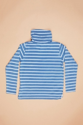 Striped High Neck Long Sleeve Top