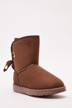 Bow Back Detail Boots