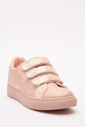 Champagne Metallic Sneakers