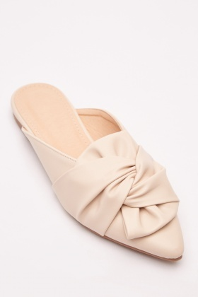Knotted Slip-On Mules