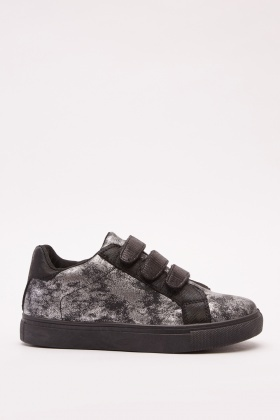 Metallic Contrast Low Top Trainers