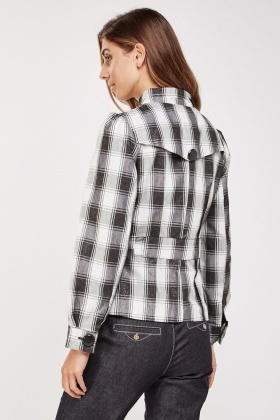 Button Up Tartan Jacket