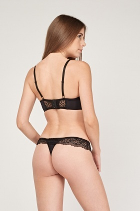 Lace Underwired Bra And Brief Set