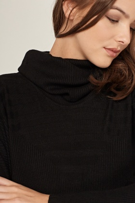 Slouchy Neck Knit Jumper