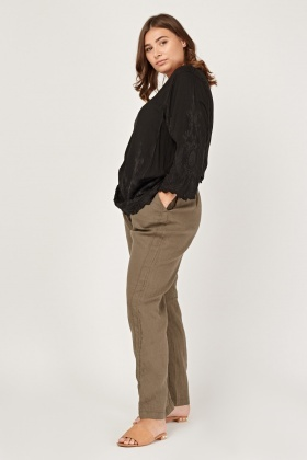 Casual Straight Fit Trousers