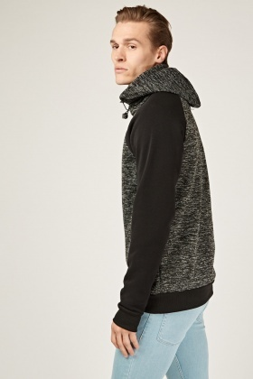 Contrast Sleeve Speckled Jumper
