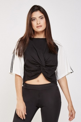 Knotted Cropped T-Shirt