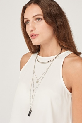 Layered Mixed Collar Necklace