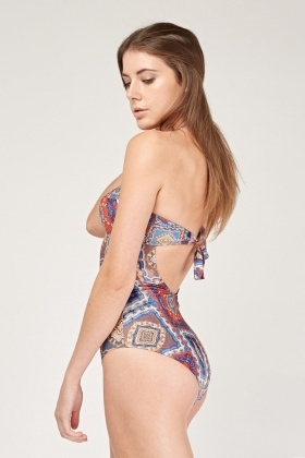 Moroccan Tile Printed Swimsuit