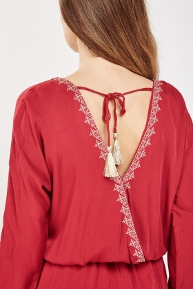 Ethnic Embroidered Tunic Dress