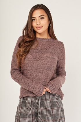 Sequinned Speckle Knit Jumper