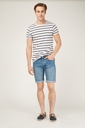 Slim Fit Casual Denim Shorts