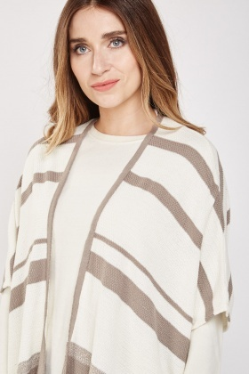 Slouchy Stripe Knit Cardigan