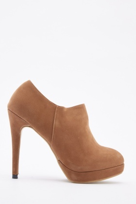 Suedette Low Top Ankle Boots