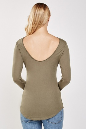 Casual Open Back Top