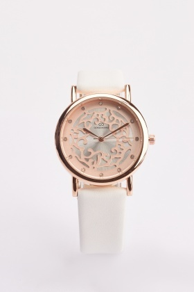 Laser Cut Dial Ladies Watch