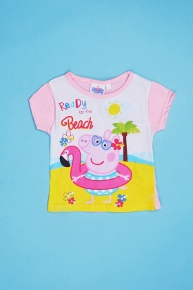 Peppa Pig Top And Shorts Pyjama Set