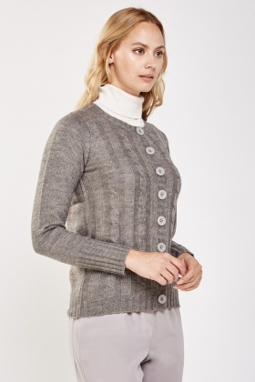 Platted Cable Knit Cardigan