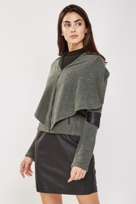 Textured Draped Jacket