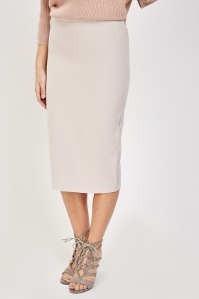 Casual Stone Pencil Skirt