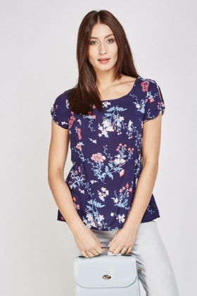 Floral Printed Short Sleeve Top