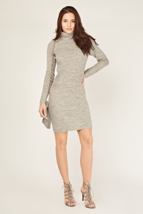 Turtle Neck Knitted Bodycon Dress - Just £5 cee32abda