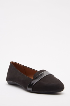 Contrasted Slip On Loafers