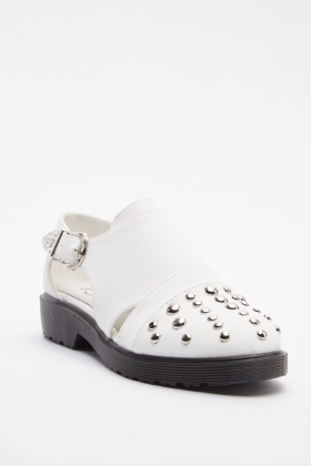 Cut Out Studded Trim Shoes