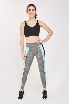 Pack Of 2 Colour Block Sports Leggings