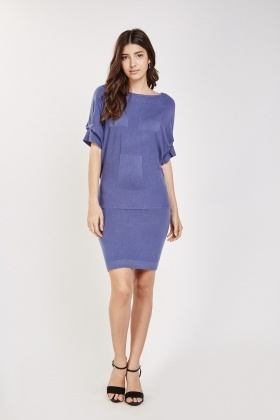 Batwing Sleeve Knit Dress