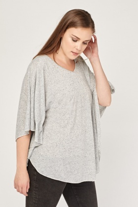 Casual Slouchy Speckled Top