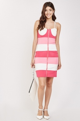Colour Block Sweetheart Dress