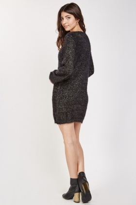 Eyelash Lurex Knit Dress