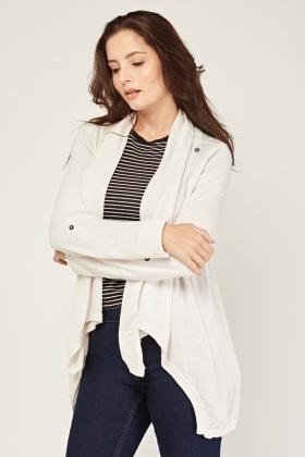Fine Knit Waterfall Cardigan