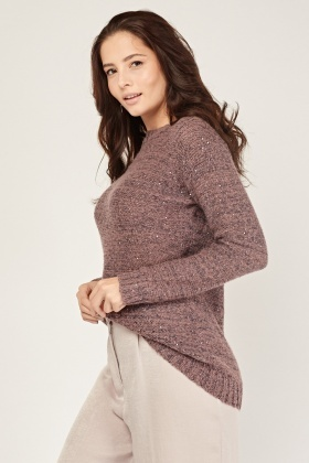 Sequinned Knit Jumper