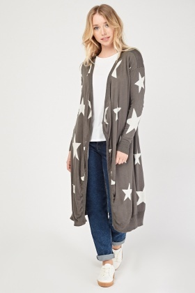 Star Waterfall Knitted Cardigan