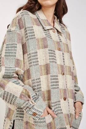 Textured Glen Check Overshirt