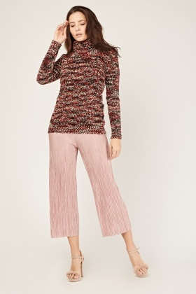 Textured Turtle Neck Knit Jumper