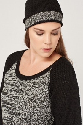 Contrasted Speckled Knit Jumper