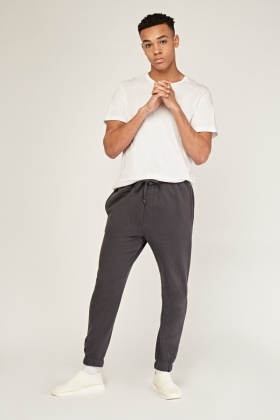 Cotton Blend Cuffed Joggers