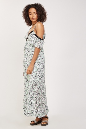 One Shoulder Asymmetric Maxi Dress