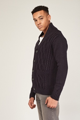 Chunky Cable Knit Cardigan