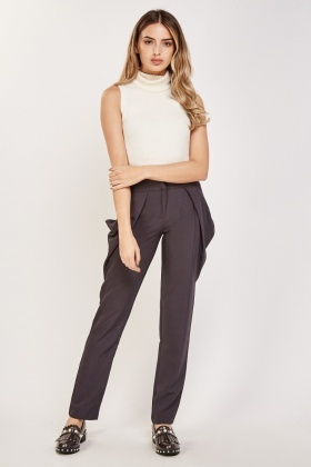 Draped Side Tapered Trousers