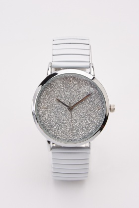 Glittered Elastic Watch