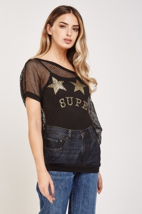 Metallic Perforated Overlay Top