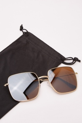 Tinted Squared Sunglasses