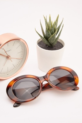 Tortoise Shell Oval Sunglasses