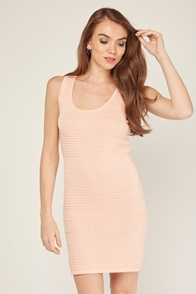 Cut Out Back Ribbed Dress