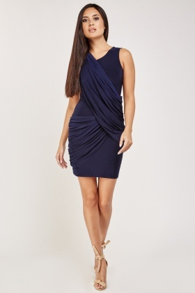 Drape Front Bodycon Dress